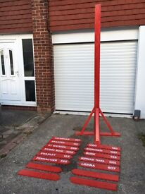8ft Outdoor Village Sign Post