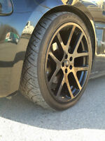 Viper mags 22x9 with NITTO tires like new Charger Challenger 300