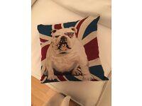 2 dog motif modern cushions
