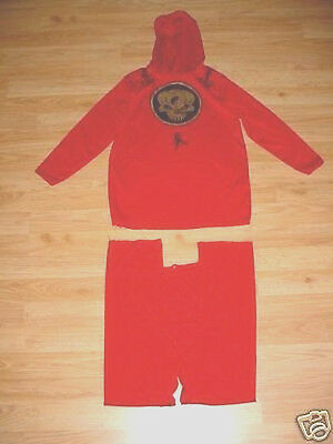 Girls Boys Halloween Ninja Kung Fu Juto Karate Red Costume Child M](Kung Fu Halloween)