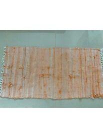 Small rug / runner 60 cm x 120cm in Orange