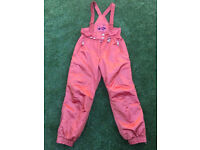 Orange Skiing Sallopettes size 18 ladies/women's in great condition