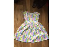Girls lined dress mint condition