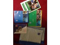 PADI diving manuals, zipped folders and RDP nitrox tables