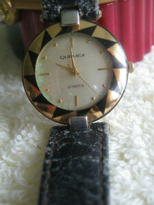 "MAN'S or LADY'S WATCH ""QUEMEX"" BATTERY-OPERATED SS BACK WORKS"