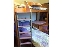 Stompa casa high sleeper single bed, with mattress, assembily instructions