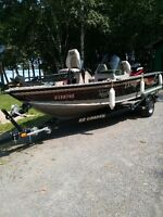 2003 Lund ProV 1800 Bass Boat with 150 Merc Optimax