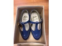Vintage Girls Shoes, size 6, Freesteps, Made in England, Real Leather
