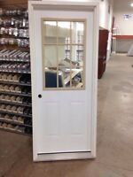 "32"" Steel door, 4 9/16 jamb, half insert"