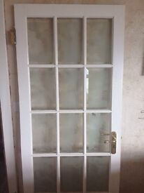 Solid wood and glass internal doors