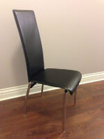 Structube CASA leather dining chairs x2 (excellent and clean)