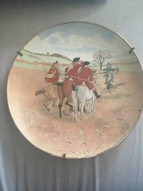 "Antique ""The Hunt"" plate"