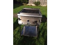 Parry two burner charcoal grill with stand