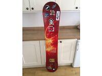 K2 snowboard. Used 1 week. 158cm
