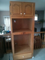 USED OAK KITCHEN CABINETS