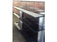 Large Black glass tv unit
