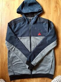 Adidas jacket navy and grey in size 13-14