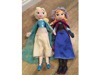 Elsa and Anna soft toys