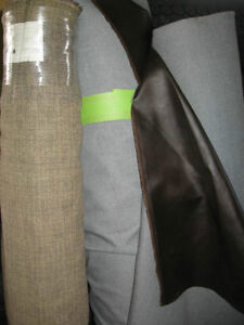 VINYL AND CLOTH FABRICS SOLD BY THE ROLL ONLY