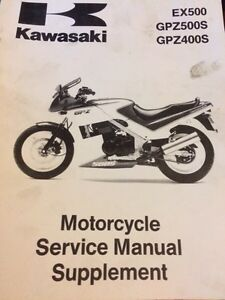 1987-1993 Kawasaki EX500 Service Manual Supplement Regina Regina Area image 1