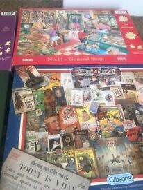 Jigsaw puzzles bulk lot