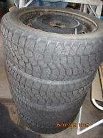 ( 4 ) 205-55-16, TIRES ON RIMS