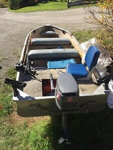 14' Misty River Fishing Boat with accessories