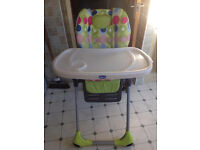 Chicco Polly Double Phase spotty Highchair