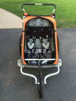 Chariot 2 Cougar double stroller - jogging