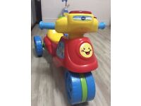Vtech 2 in 1 trike to motorbike learning ride on toy