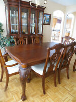 Cherry Dining Set with marble top Side Board *** Moving Sale ***