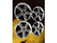 "18"" RLINE ALLOY WHEELS AUDI A3 96-03 MK4 GOLF TT BORA BETTLE SET OF 4"
