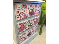 Decoupage chest of drawers For sale