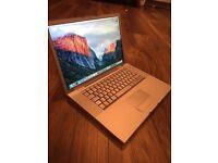 "Apple MacBook Pro 15.4"" , 2.5ghz Intel CPU , 4gb ram, GeForce 512mb, 250gb hard Drive"