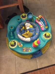 Well loved exersaucer