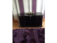 Black glossy TV unit/sideboard