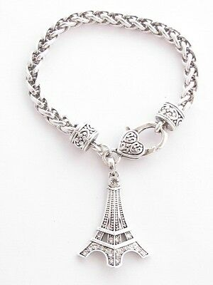 Paris France Tower - Eiffel Tower Paris France Crystal Fashion Chain Bracelet Jewelry Travel