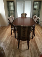 Solid Wood Dining Table and Chairs (Orig $10,000)