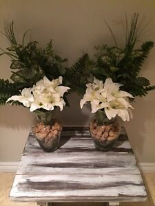 Part of white Lilly flower arrangements