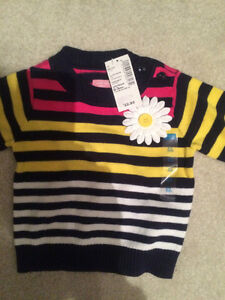 Girls cotton sweater - new with tags  0-3 months