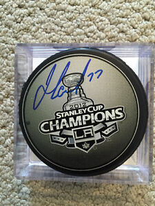 JEFF CARTER LA KINGS SIGNED STANLEY CUP CHAMPS PUCK/COA