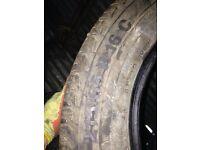 2x 215/65/16C van tyres part worn continental