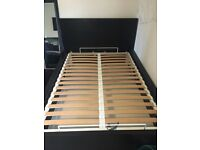 Ikea Malm Ottoman Double Bed Black
