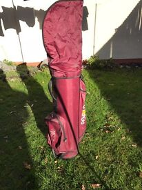 Golf bag with 12 clubs inside