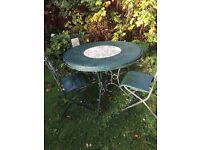 Garden Table with chairs and additional 'coffee'table