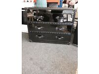 Aviator gun metal and leather drawers from sterling Tillicoultry £250