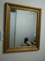 mirror...gold-brass frame