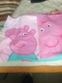 Peppa pig single bed duvet cover with pillowcase
