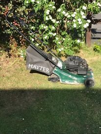 Petrol hayter mower