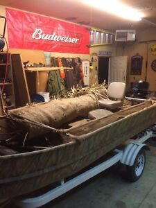 Steel Flat bottom boat 15 feet long 20hp outboard London Ontario image 9